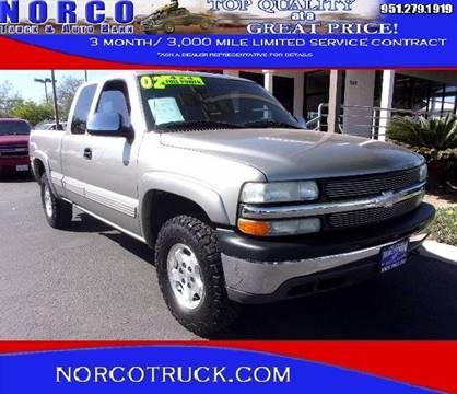 2002 Chevrolet Silverado 1500 for sale in Norco, CA