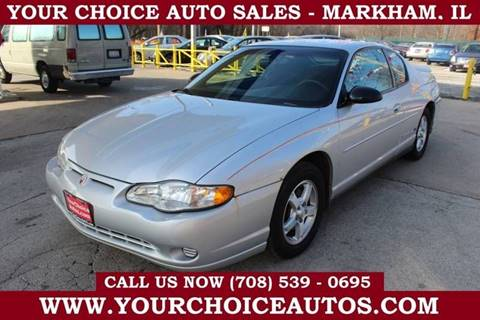 2003 Chevrolet Monte Carlo LS for sale at Your Choice Autos in Markham IL