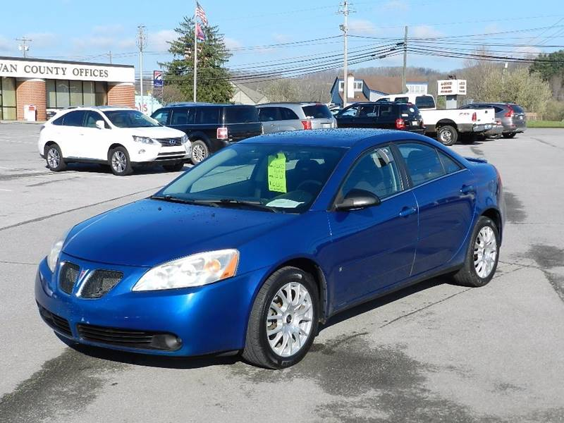2007 PONTIAC G6 GT blue the front windshield is in excellent condition  the paint has some sligh