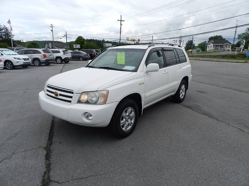 2002 TOYOTA HIGHLANDER LIMITED white the front windshield is in excellent condition  the paint h