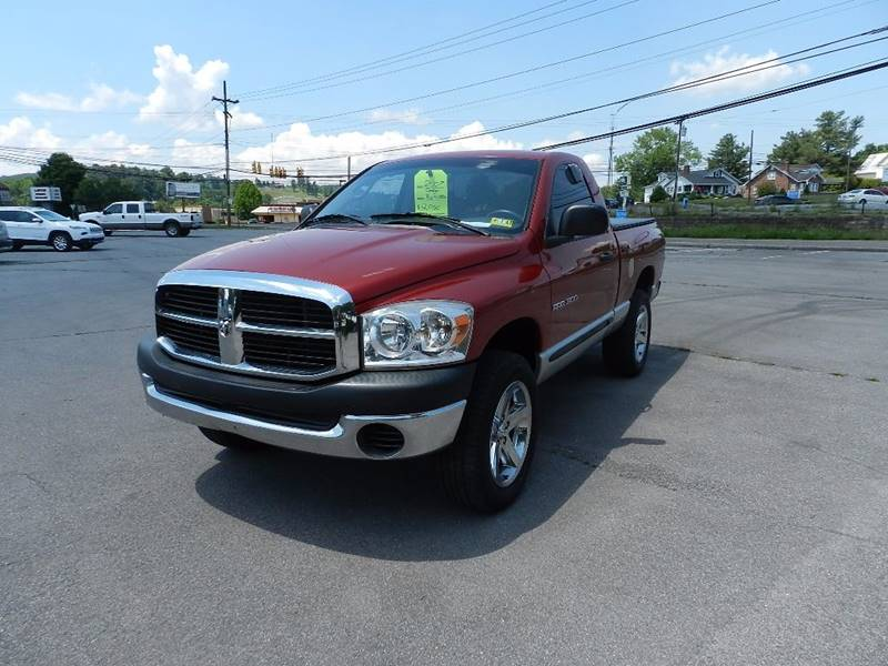 2007 DODGE RAM PICKUP 1500 ST 2DR REGULAR CAB 4X4 SB burgundy the front windshield is in excellen