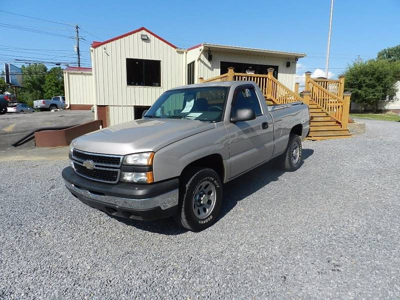 2007 CHEVROLET SILVERADO 1500 CLASSIC WORK TRUCK 2DR REGULAR CAB 4WD 6 beige pickup bed light pi