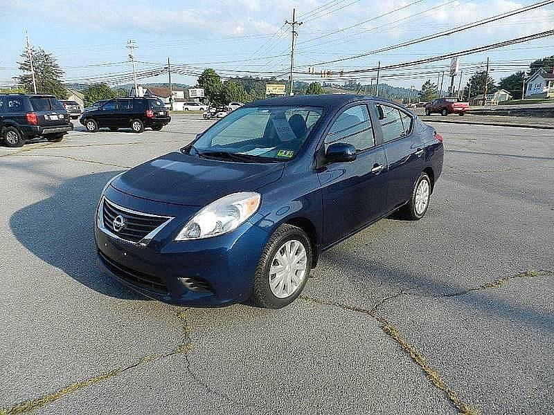 2012 NISSAN VERSA 16 SV 4DR SEDAN blue the front windshield is in excellent condition  the pain