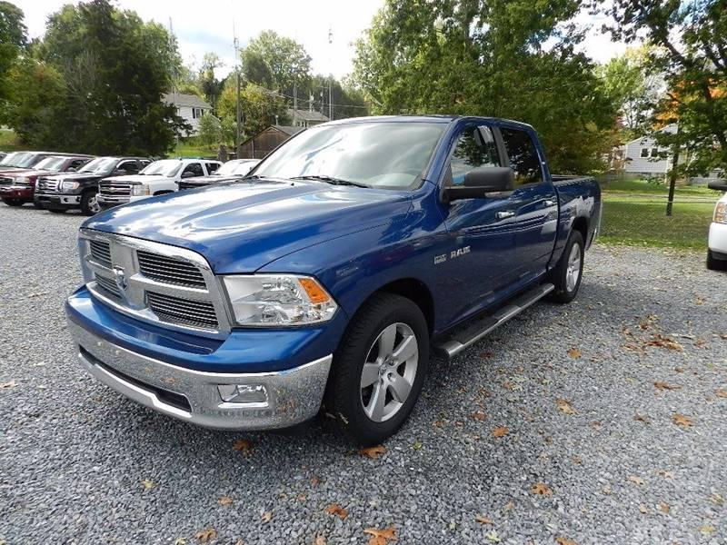 2010 DODGE RAM PICKUP 1500 SLT SPORT 4X2 4DR CREW CAB 55 F blue exhaust - dual tip pickup bed l