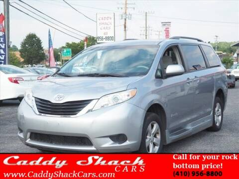2012 Toyota Sienna for sale at CADDY SHACK CARS in Edgewater MD