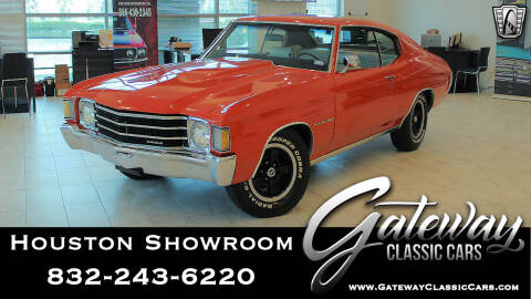 1972 Chevrolet Chevelle for sale at Gateway Classic Cars - Houston Showroom in Houston TX