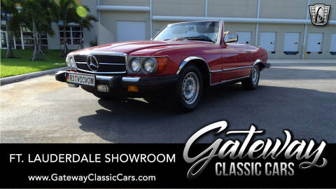 1985 Mercedes-Benz 380-Class 380 SL for sale at Gateway Classic Cars - Ft. Lauderdale Showroom in Coral Springs FL