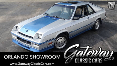 1984 Dodge Charger Shelby for sale at Gateway Classic Cars - Orlando Showroom in Lake Mary FL