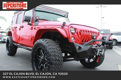2018 Jeep Wrangler Unlimited for sale in El Cajon, CA