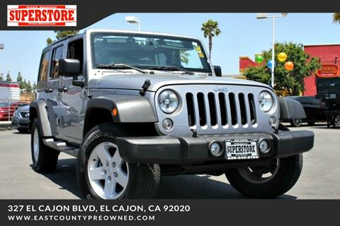 2018 Jeep Wrangler Unlimited for sale in El Cajon, CA
