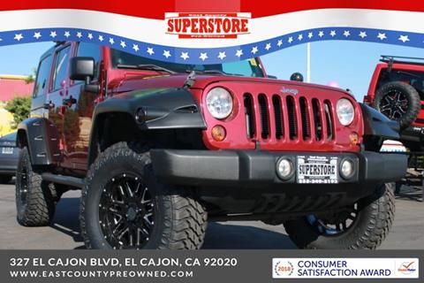 2013 Jeep Wrangler Unlimited for sale in El Cajon, CA