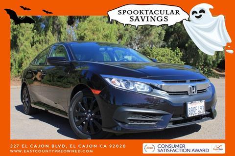 2017 Honda Civic for sale in El Cajon, CA