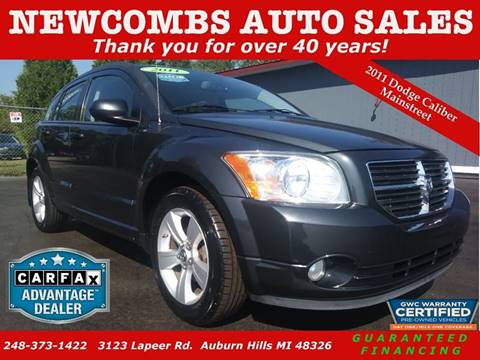2011 Dodge Caliber for sale at Newcombs Auto Sales in Auburn Hills MI