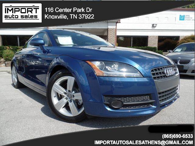 Tt Auto Sales >> 2008 Audi Tt 2 0t 2dr Coupe In Knoxville Tn Import Auto Sales