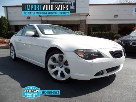 2005 BMW 6 Series For Sale In Knoxville TN