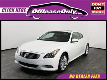 2013 Infiniti G37 Coupe for sale in West Palm Beach, FL