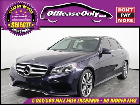 2014 Mercedes Benz E Class For Sale In West Palm Beach, FL