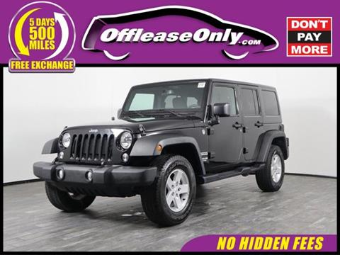 2016 Jeep Wrangler Unlimited for sale in West Palm Beach, FL