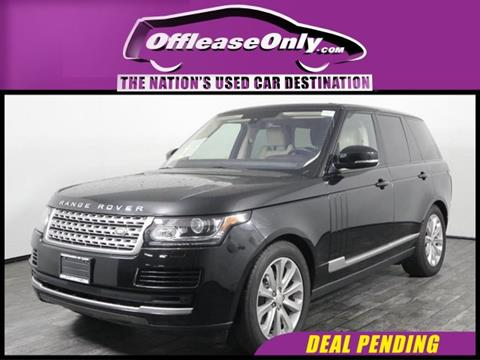 2016 Land Rover Range Rover for sale in West Palm Beach, FL
