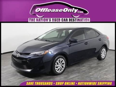 2017 Toyota Corolla for sale at OffLeaseOnly.com The Nation's Used Car Destination in West Palm Beach FL