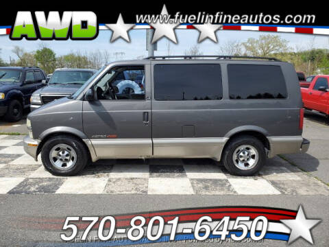 2002 Chevrolet Astro for sale at FUELIN FINE AUTO SALES INC in Saylorsburg PA