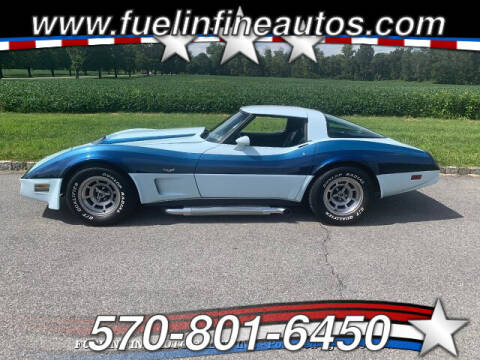 1978 Chevrolet Corvette for sale at FUELIN FINE AUTO SALES INC in Saylorsburg PA
