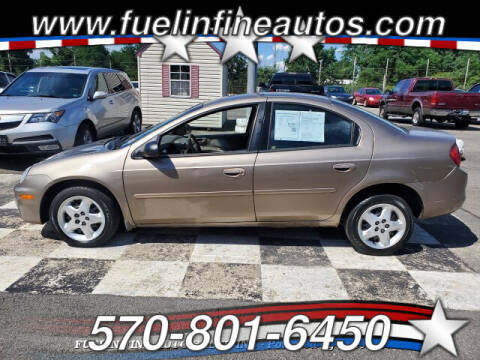2002 Dodge Neon for sale at FUELIN FINE AUTO SALES INC in Saylorsburg PA