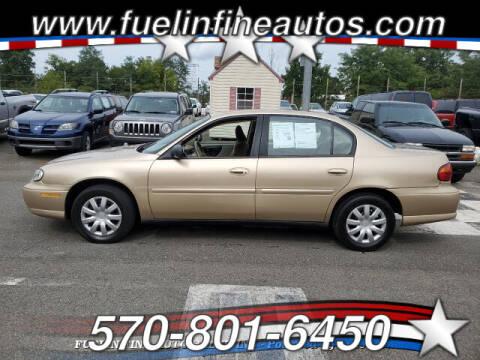 2003 Chevrolet Malibu for sale at FUELIN FINE AUTO SALES INC in Saylorsburg PA