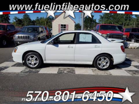 2005 Subaru Impreza for sale at FUELIN FINE AUTO SALES INC in Saylorsburg PA