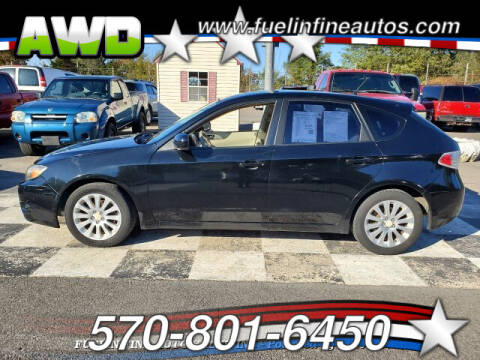 2008 Subaru Impreza for sale at FUELIN FINE AUTO SALES INC in Saylorsburg PA