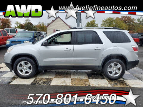 2012 GMC Acadia for sale at FUELIN FINE AUTO SALES INC in Saylorsburg PA