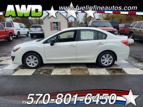 2016 Subaru Impreza for sale at FUELIN FINE AUTO SALES INC in Saylorsburg PA