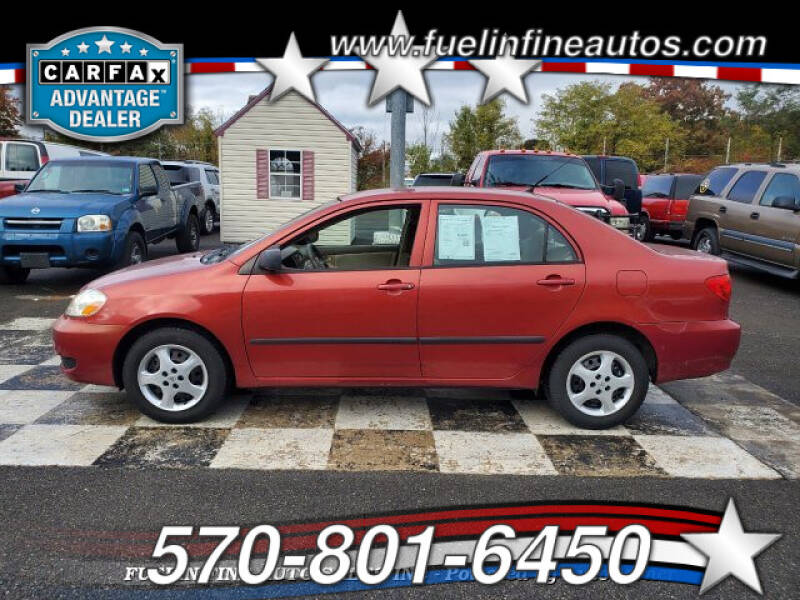 2008 Toyota Corolla for sale at FUELIN FINE AUTO SALES INC in Saylorsburg PA