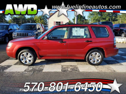 2008 Subaru Forester for sale at FUELIN FINE AUTO SALES INC in Saylorsburg PA