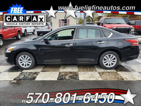 2013 Nissan Altima for sale at FUELIN FINE AUTO SALES INC in Saylorsburg PA