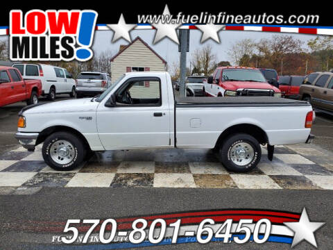 1996 Ford Ranger for sale at FUELIN FINE AUTO SALES INC in Saylorsburg PA