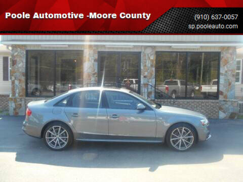 2016 Audi A4 for sale at Poole Automotive in Laurinburg NC