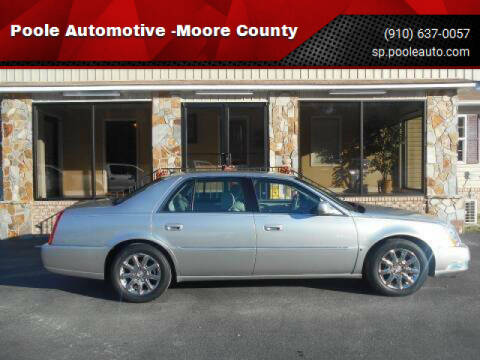 2008 Cadillac DTS for sale at Poole Automotive in Laurinburg NC