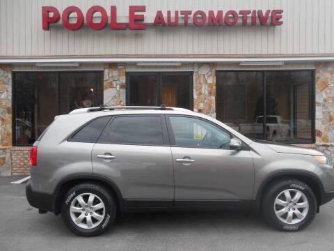 2012 Kia Sorento for sale at Poole Automotive in Laurinburg NC