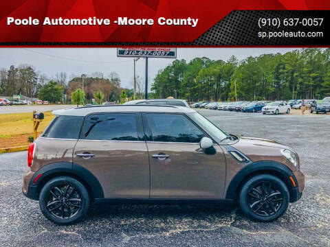 2014 MINI Countryman for sale at Poole Automotive in Laurinburg NC