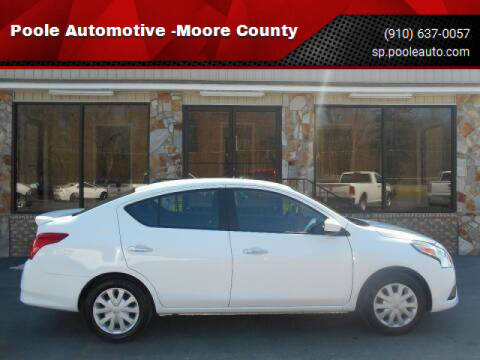 2019 Nissan Versa for sale at Poole Automotive in Laurinburg NC