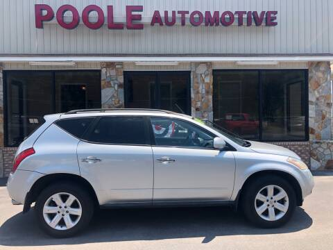 2007 Nissan Murano for sale at Poole Automotive in Laurinburg NC