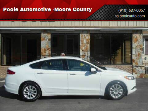 2018 Ford Fusion for sale at Poole Automotive in Laurinburg NC