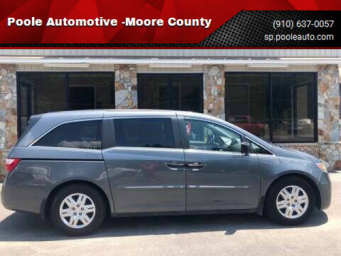 2012 Honda Odyssey for sale at Poole Automotive in Laurinburg NC