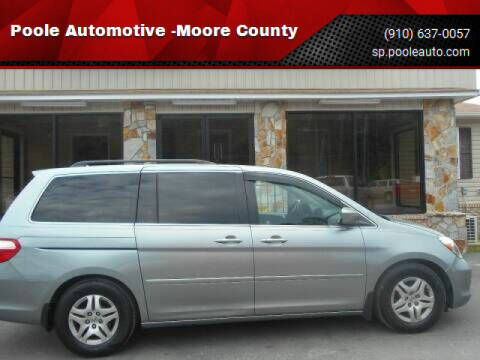 2007 Honda Odyssey for sale at Poole Automotive in Laurinburg NC