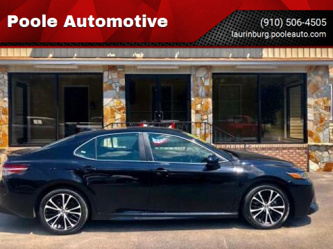 2019 Toyota Camry for sale at Poole Automotive in Laurinburg NC