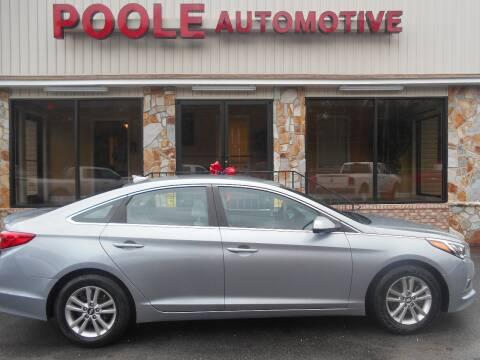 2017 Hyundai Sonata for sale at Poole Automotive in Laurinburg NC