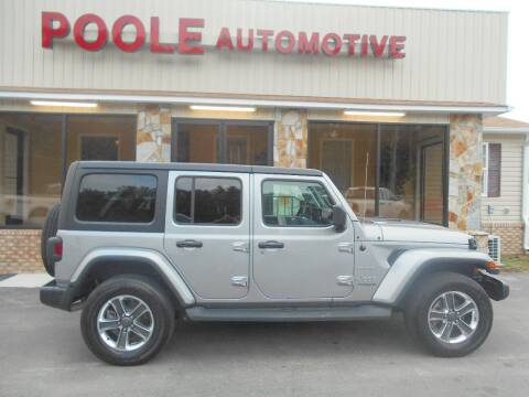 2019 Jeep Wrangler Unlimited for sale at Poole Automotive in Laurinburg NC