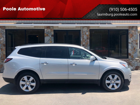 2017 Chevrolet Traverse for sale at Poole Automotive in Laurinburg NC