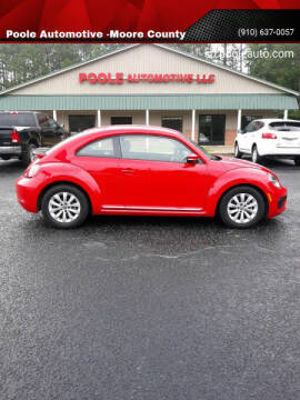 2019 Volkswagen Beetle for sale at Poole Automotive in Laurinburg NC